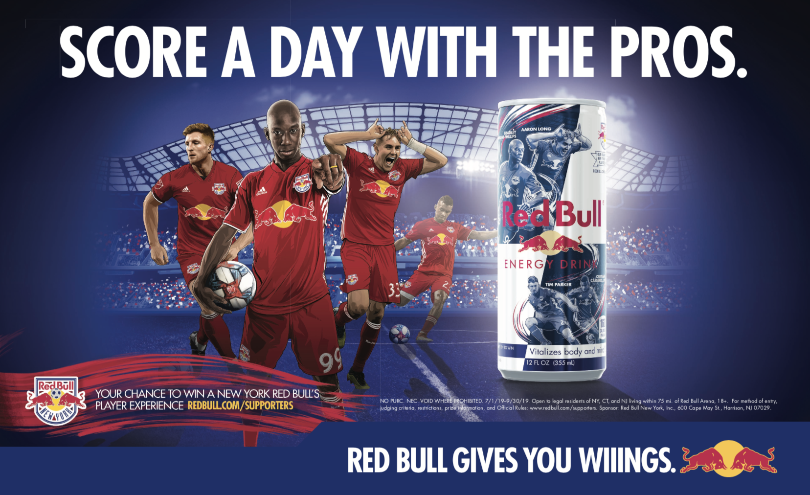 NYRB Cheer Card Creator Red Bull Limited Edition Can